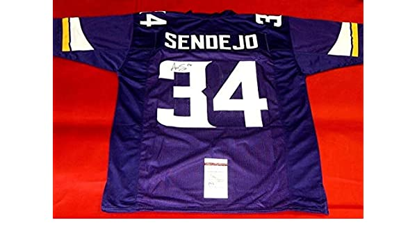 Andrew Sendejo Autographed Signed Autograph Minnesota Vikings Jersey Sports  Memorabilia JSA at Amazon s Sports Collectibles Store 70c44b52c