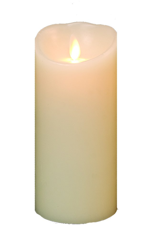Luminara Flameless Candle: Vanilla Scented Moving Flame Candle with Timer (6'' Ivory) by CWI Gifts