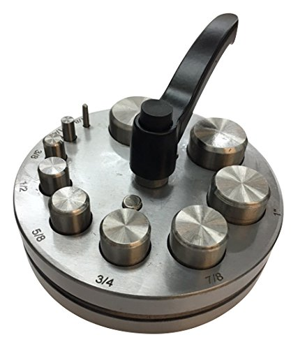 """Jeweler 1/8"""" - 1-1/4"""" Metal Disc Cutter Hole Puncher Punches Round Plate 10 Die"""