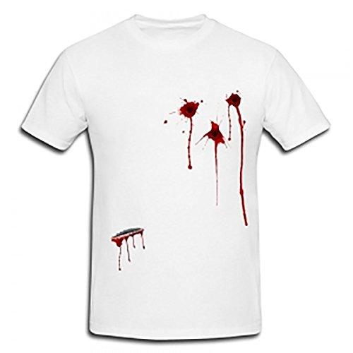 Rimi Hanger Mens Short Sleeve Bloody Gun Shot