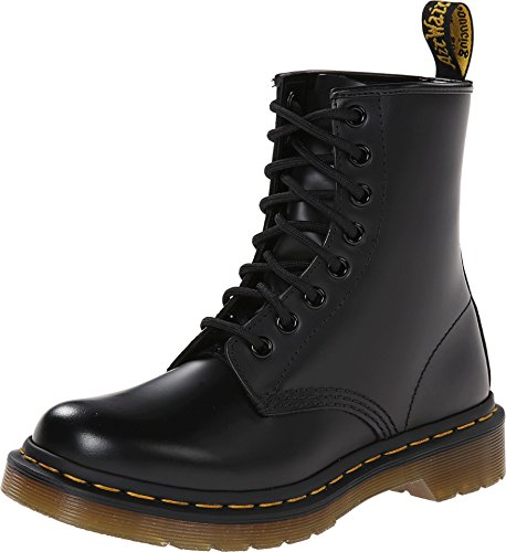 Dr. Marten's Women's 1460 8-Eye Patent Leather Boots, Black Smooth Leather, 10 B(M) US Women / 9 D(M) US Men