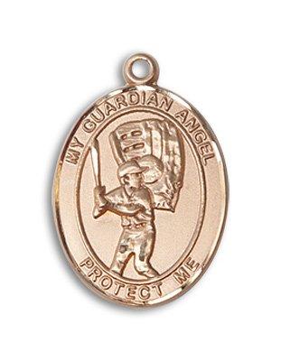 14 ktゴールド聖クリストファー/野球メダル B0051EHOEA