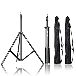 Emart Photography 7 feet Light Stands for Photo Studio, Video Shooting, Carry Case Include (Set of 2)