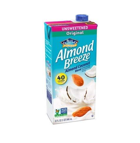 Almond Breeze Dairy Free Almondmilk Blend, Unsweetened Almond Coconut Original, 32 Ounce (Pack of 12)