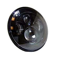 """uxcell® 7"""" Round LED Projector Headlight For Harley Davidson Jeep Wrangler Black Motorcycle Car H4 H13 DRL Hi/Lo Beam Head Light Lamp Bulb"""
