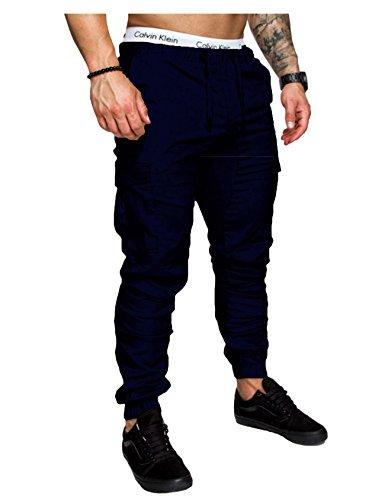 Jogging Jueshanzj loisir homme Bleu Stretch Pantalon Marin wwzqS4t