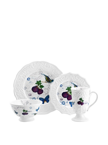 Mikasa Antique Countryside Fig 4-Piece Place Setting