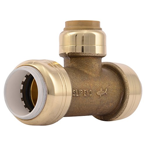 SharkBite PVC Fitting UIP364A ½ inch PVC X ½ inch PVC X ½ inch CTS, PVC Connector to Copper, PEX, CPVC, HDPE or PE-RT for Potable Water