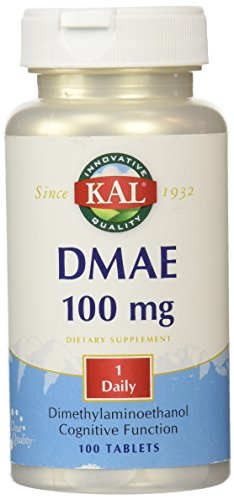 Dmae Dimethylaminoethanol 100 Tablets - KAL DMAE Tablets, 100 mg, 100 Count