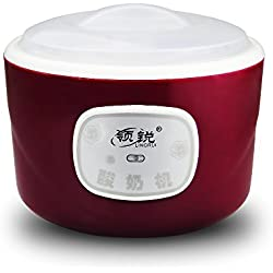 Multi-function yogurt machine - automatic digital yogurt machine - can make yogurt, natto, rice wine, etc. (Purple, 1.2 L)