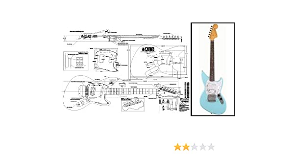Plan de Fender Jagstang guitarra eléctrica – escala completa impresión: Amazon.es: Instrumentos musicales