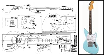 413e54Ip6aL._SX355_ amazon com plan of fender jagstang electric guitar full scale jagstang wiring diagram at arjmand.co