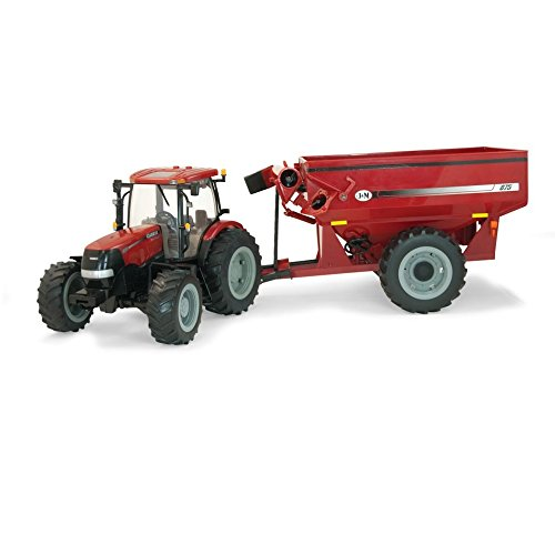 (TOMY 1/16th BIG FARM Case IH Puma 180 with J&M Grain Cart)