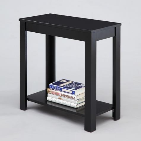 "Brand New 24"" x 12"" x 24""H Black Finish Pierce Chair Side Table"