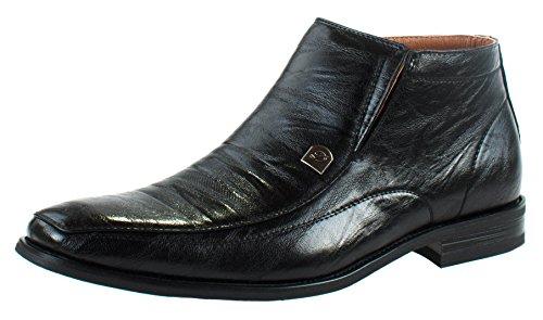 Delli Aldo Men's M-606299 Patent Boots Leather Ankle Boots Patent B016U02WN6 Shoes f27228
