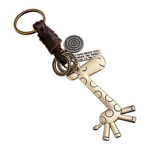 Fashion Originality Modeling Bicycle Whistle Baseball Cap Key Buckle Pendant HandBag Pendant Purse (Giraffe)