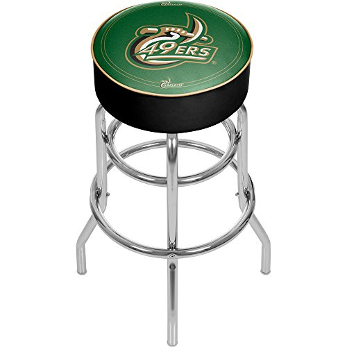 NCAA University of North Carolina Charlotte Padded Swivel Bar Stool