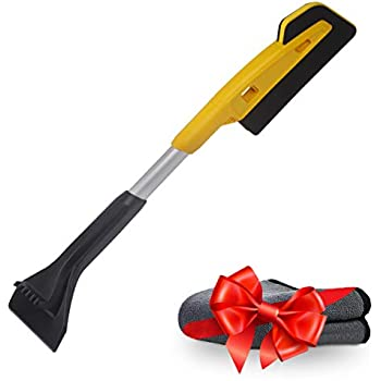 T.G.Y Car Snow Brush Scratch-Free Snow Brush with Scraper Snow Remover with Ice Scraper