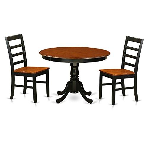 East West Furniture HLPF3-BCH-W 3 Piece Hartland Set, Black & Cherry