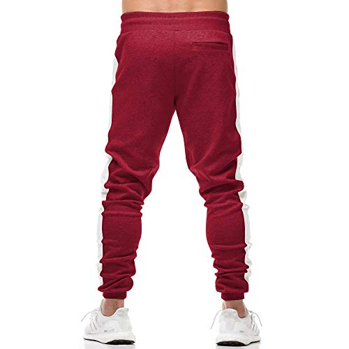 c6f25b7a90d2e EVERWORTH Men s Gym Workout Stripe Jogger Pants Slim Fit Tapered ...