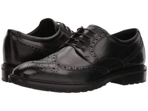 着替える哲学的気球ECCO(エコー) メンズ 男性用 シューズ 靴 オックスフォード 紳士靴 通勤靴 Vitrus I Wingtip Tie - Black [並行輸入品]