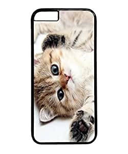 VUTTOO Iphone 6 Case, Cute Kitten Blue Eyes PC Plastic Hard Case Cover for Apple iPhone 6 4.7 Inch PC Black by icecream design