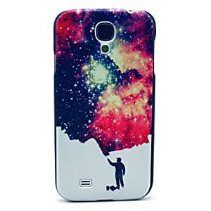 TOPQQ ships in 48 hours Man and Space Star Pattern Plastic Protective Back Cover for Samsung Galaxy S4 I9500