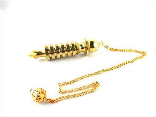 Egyptian Pendulum (JET Quality 6 Plate Ring Brass Plated Metal Isis Pendulum Healing Dowsing A++)