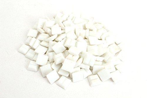 Milltown Merchants 4/10 Inch (10mm) White Mosaic Tile, 3 Pound (48 oz) Bulk Assortment of Mosaic -