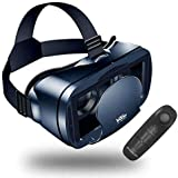 【NEWEST】3D VR Headset With Remote Controller,VR Glasses,VR Goggles -Compatible for iph X 7/7+/6s/6 +/6/5, Samsung Galaxy…