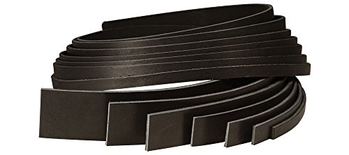 Tandy Leather Black Cowhide Strip 1-1/4