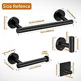 Tudoccy 5-Pieces Matte Black Bathroom Hardware Set