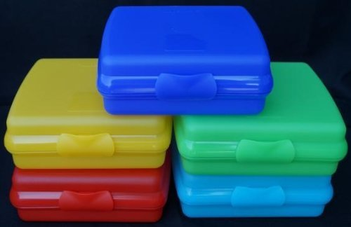 Tupperware Square Sandwich Keeper Container Set of 5