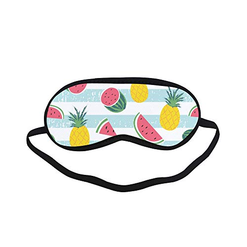 Lovely Sleep Mask for Women Cute Summer Sweet Fruit Watermelon Eye Cover Blocks Light No Pressure Adjustable Strap Ladies Eye Mask for Sleeping Bedroom Bedroom Unisex