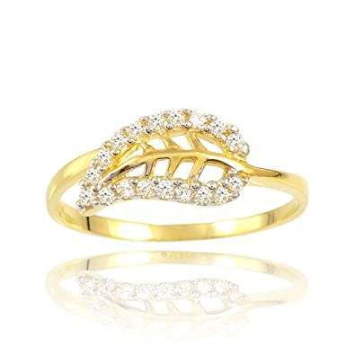 14k Yellow Gold Leaf Rings