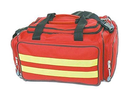 Bolsa de emergencia GIMA, rojo, de emergencia, trauma, rescate, médico, primeros auxilios, enfermera, paramédico, bolsa de bolsillo multibolsillos 35 x 45 x 21 cm
