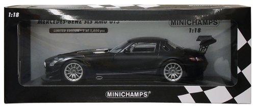 Minichamps 151113101 - Mercedes-Benz SLS AMG GT3 - Street, Maßstab: 1:18, matt schwarz