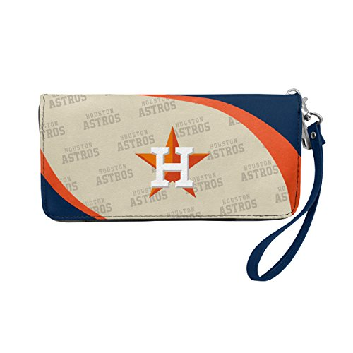 Littlearth MLB Curve Zip Organizer Wallet Wristlet Purse (Houston Astros)