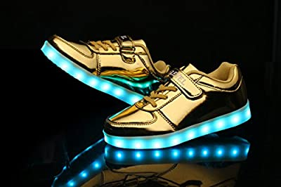 SLEVEL 16 Colors LED Light Up Shoes With Remote Flashing Sneakers for Kids Boys Girls