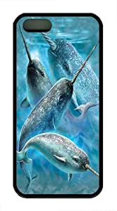 iPhone 5S Case, iPhone 5S Cases -Narwhals Custom TPU Soft Case Cover Protector for iPhone 5/5S Black by ruishername