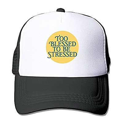 Men/Women Too Blessed to Be Stressed Mesh Snapback Hats Adjustable Trucker Cap