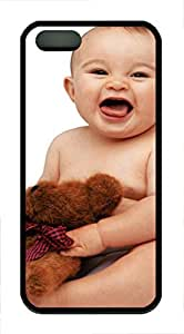 iPhone 5 5S Case Cute Baby With Dolls TPU Custom iPhone 5 5S Case Cover Black