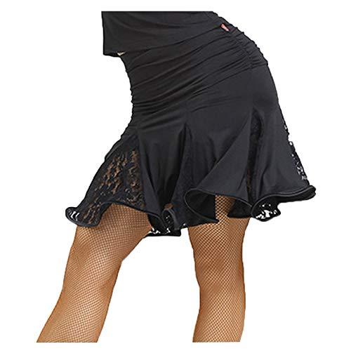 Motony New Style Lace Latin Dance Dress Latin Dance Costume Square Dance Skirt Black L