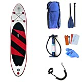 Tabla de Paddle Lake Travel Inflable Stand Up Paddleboard Sup con Almacenamiento Mochila, Correa, Pala y Bomba Paleta Flotante Ajustable (Color : Red Without Seat, tamaño : 320x76x15cm)