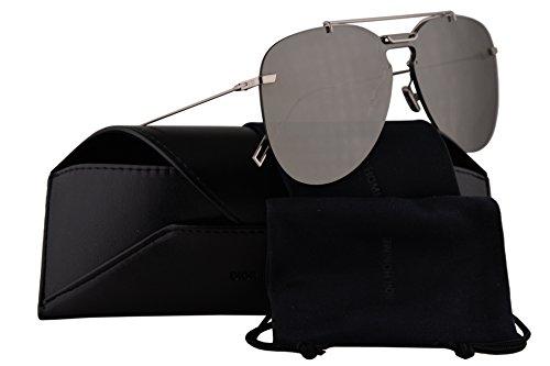 Christian Dior Homme Dior0222S Sunglasses Palladium w/Grey Silver Mirror Lens 99mm 0100T Dior0222/S Dior 0222/S Dior 0222S