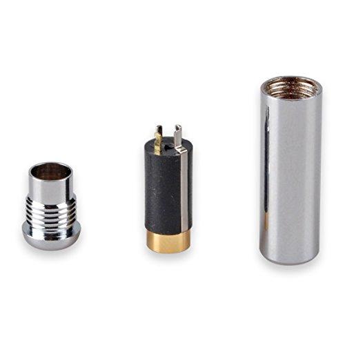 Conwork 3.5mm 4 Pole Female Socket Repair Headphone Earphone Jack Stereo Audio Plug Jack Connector Soldering -Silver