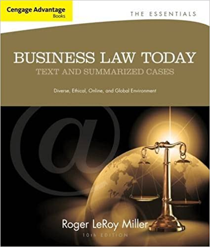 Book Cengage Advantage Books: Business Law Today, The Essentials: Text and Summarized Cases by Roger LeRoy Miller (2012-12-21)