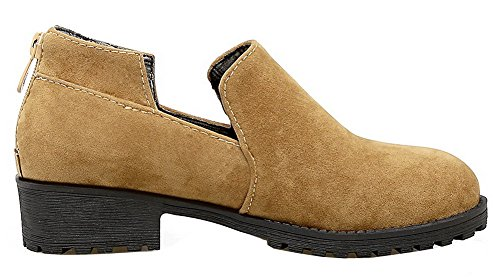 Pumput selin Kiinteän Päälle Voguezone009 Himmeä kengät Vedettävä Naisten toe Keltainen Matala Pyöreitä Ogwwcqaz