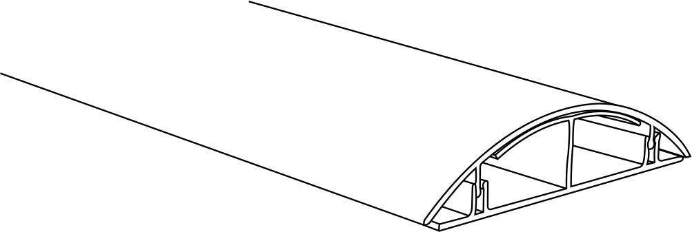 Marley Deutschland Kabelkanal selbstklebend 50-190cm Silber matt TV Kabelleiste Wandkanal Leitungskanal begehbar L/änge:ca 1.90 m