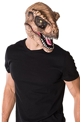 [Rubie's Costume Co Men's Jurassic World T-Rex 3/4 Mask, Multi, One Size] (Animal Halloween Costumes Men)
